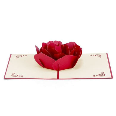 3D Pop-Up Card - Red Rose