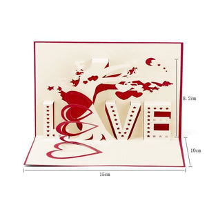 3D Pop-Up Cards - Love