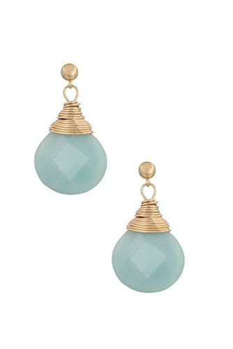 Drops of Jupiter - Amazonite Earrings - Gold filled