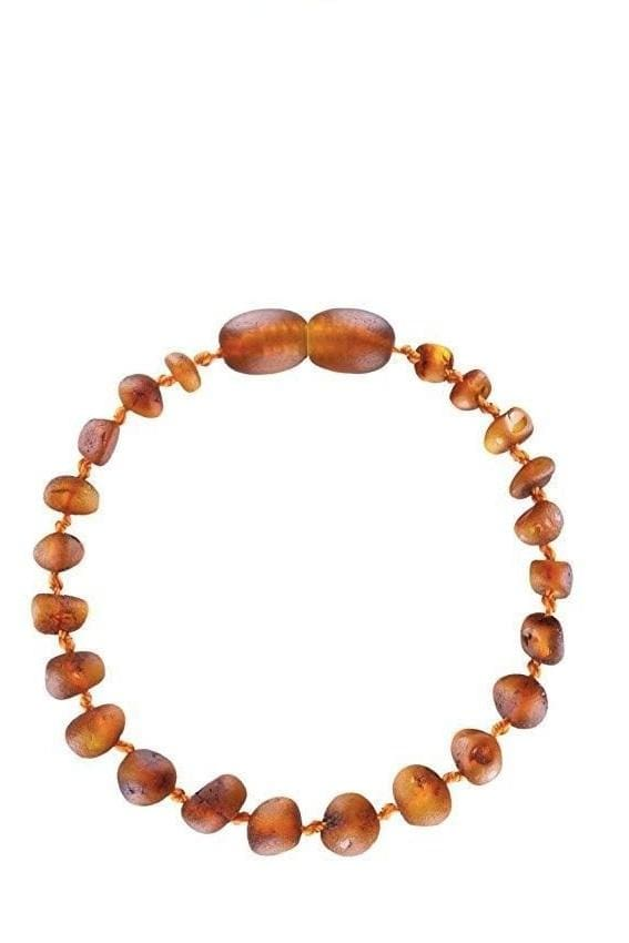 Polished Cognac Color Baltic Amber Teething Bracelet