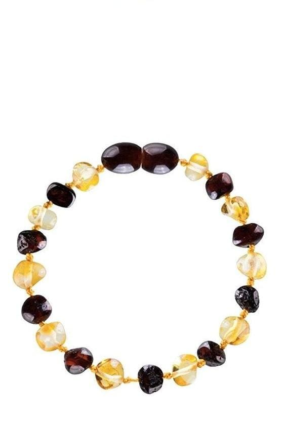 Baltic Amber Teething Bracelet/Anklet (4Colors) - Unpolished Honey/Cherry