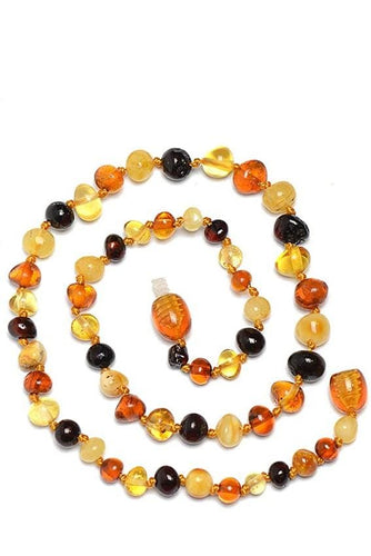 Baltic Amber Teething Necklace (2Colors)