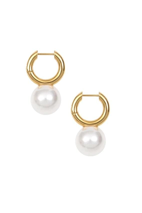 Baroque Pearl Hoop Earrings
