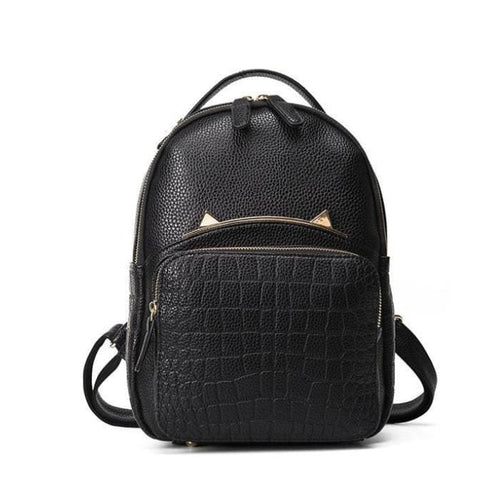Black Cat Backpack (2 Sizes) - Large (without chains)
