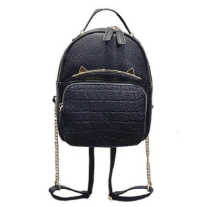 Black Cat Backpack (2 Sizes) - Small (with chains)