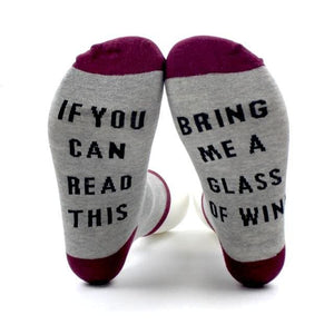 Bring Me A Drink Socks (6 Styles) - Bring me a glass of wine