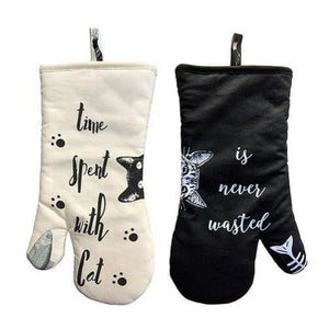 Cat Cotton Oven Mitts