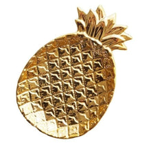 Ceramic Pineapple Plate (2 Colors) - Gold