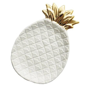 Ceramic Pineapple Plate (2 Colors) - White