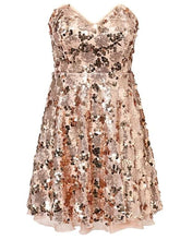 Champagne Sequin Party Dress