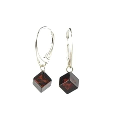 Cherry Cube Baltic Amber Earrings