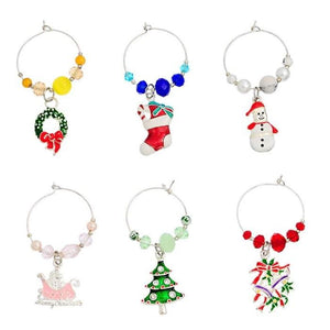 Christmas Wine Glass Charms (6 Styles)