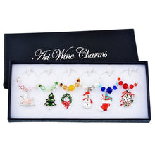 Christmas Wine Glass Charms (6 Styles) - Multicolor