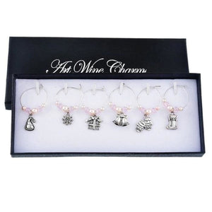 Christmas Wine Glass Charms (6 Styles) - Pearl