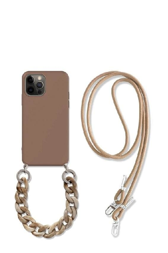 Crossbody iPhone Case with Rope Strap - for iphone 8 / Cappuccino