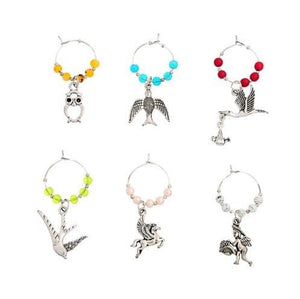 Custom Wine Glass Charms (3 Styles) - Birds