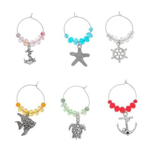 Custom Wine Glass Charms (3 Styles) - Marine