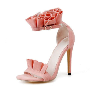 Elegant Ruffle Stilettos (4 Colors) - Pink / US 4 / EU 34