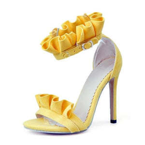Elegant Ruffle Stilettos (4 Colors) - Yellow / US 10 / EU 42