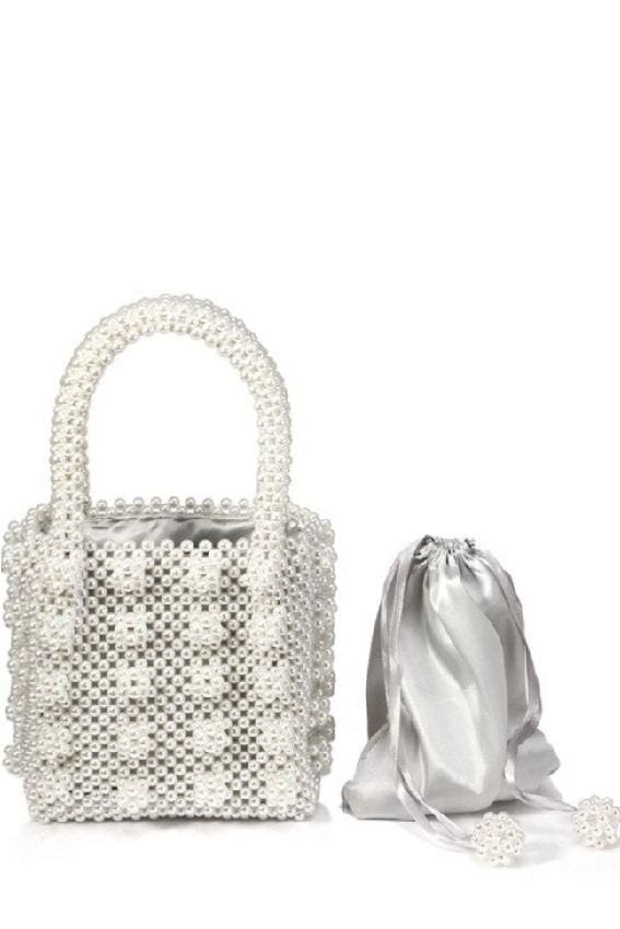 Faux Pearl Beaded Bag