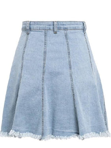 Frayed Denim Mini Skirt
