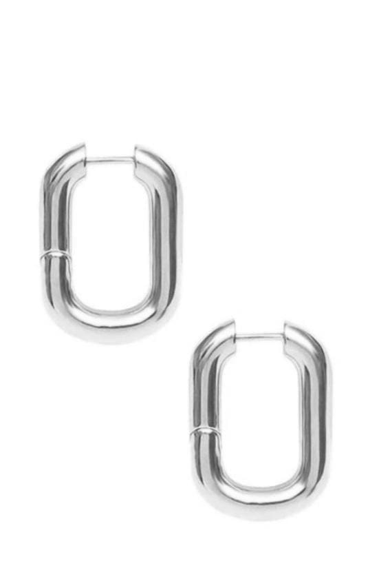 French Minimalist Hoops - Silver