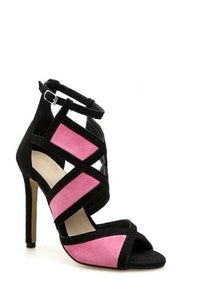 Geometric Open-Toe Pumps (3 Colors) - Pink / US 4 / EU 35