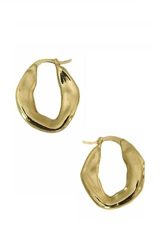 Gold Irregular Hoop Earrings