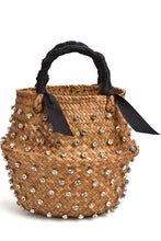 Handmade Crystal Embellished Straw Bag (3∙Styles)