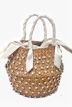 Handmade Crystal Embellished Straw Bag (3∙Styles) - White