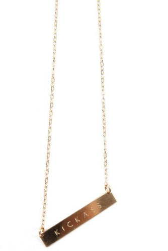 Horizontal Bar Necklace With Message (9∙Variants)