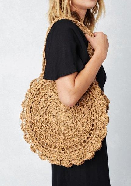 Knitted Round Beach Tote (2∙Colors)