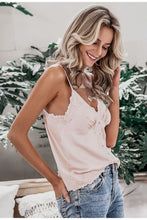 Lace Trim Satin Cami Top (2Colors)
