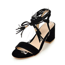 Lace-Up Strap Sandals (4 Colors) - Black / US 4 / EU 34