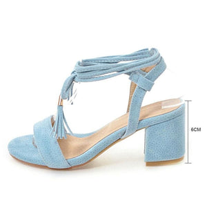 Lace-Up Strap Sandals (4 Colors)