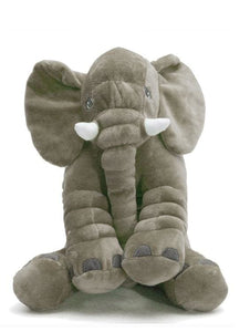 Large Plush Elephant Sleeping Pillow (4 Colors) - Gray