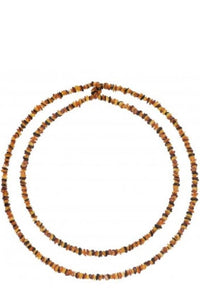 Long Baltic Amber Chips Necklace (3Colors) - Multicolor
