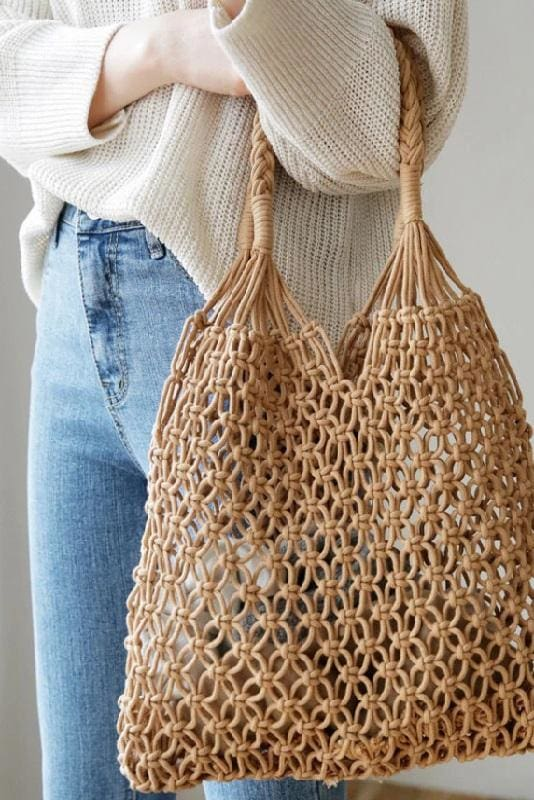 Macrame Shopper Bag
