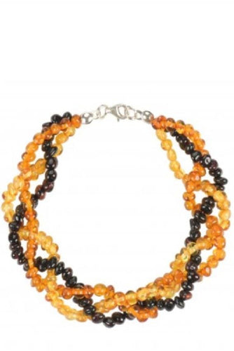 Multicolor Triple Layer Baltic Amber Bracelet