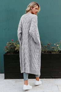 Open-Front Longline Cardigan (2∙Colors)