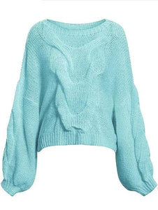 Fall For Oversize Sweater - Sky blue / One Size