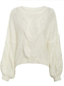 Fall For Oversize Sweater - White / One Size