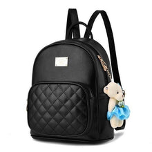 Quilted Front Pocket Backpack (3 Colors) - Black