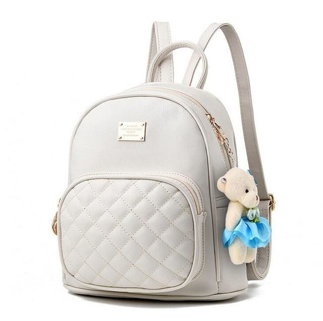 Quilted Front Pocket Backpack (3 Colors) - Off-White