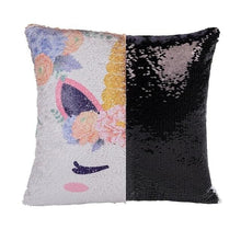 Reversible Sequins Color Changing Unicorn Pillow Case - Black