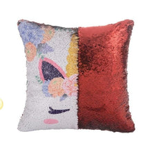 Reversible Sequins Color Changing Unicorn Pillow Case - Red