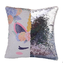 Reversible Sequins Color Changing Unicorn Pillow Case - Silver