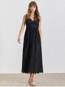 Sleeveless Eyelet Midi Dress (2 Colors)