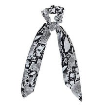 Snake Print Long Tail Scrunchie (2 Colors) - 5