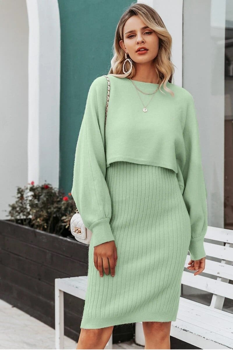 Warm Two-Piece Knit Set